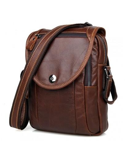 Фотография Коричневая сумка мужская через плечо 77354 LC