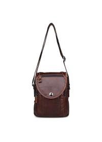 Коричневая сумка мужская через плечо 77354 LC