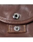 Фотография Мужская коричневая кожаная плечевая сумка 77354