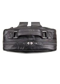 Мужской кожаный рюкзак черного цвета 77355A