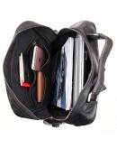 Фотография Мужской кожаный рюкзак черного цвета 77355A