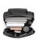 Фотография Мужской кожаный черный рюкзак 77356A