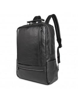 Мужской кожаный черный рюкзак 77356A