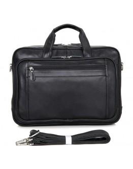 Большая чёрная мужская кожаная дорожная сумка 77367a