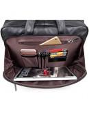 Фотография Большая чёрная мужская кожаная дорожная сумка 77367a
