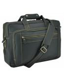 Фотография Вместительная мужская черная сумка 77367RA