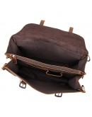 Фотография Большая мужская сумка трансформер коричневая 77370R