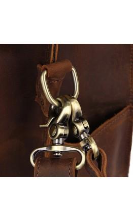 Большая мужская сумка трансформер коричневая 77370R