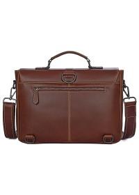 Мужской кожаный портфель, красивый коричневый цвет 77376B