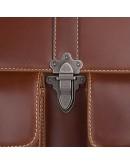 Фотография Мужской кожаный портфель, красивый коричневый цвет 77376B