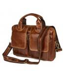 Фотография Мужская кожаная сумка - портфель 77378C