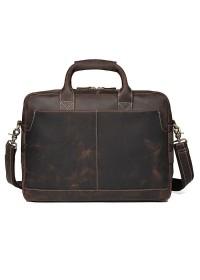 Сумка мужская - портфель из натуральной кожи 77382R