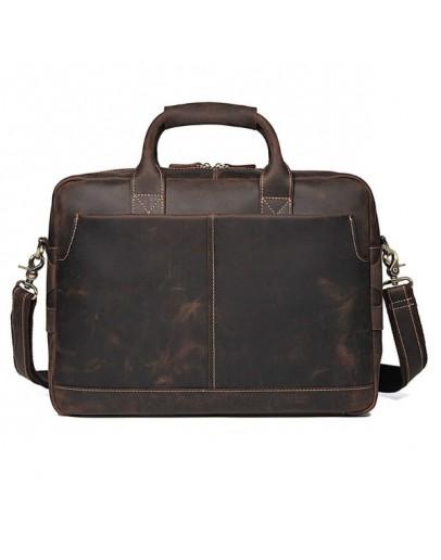 Фотография Сумка мужская - портфель из натуральной кожи 77382R
