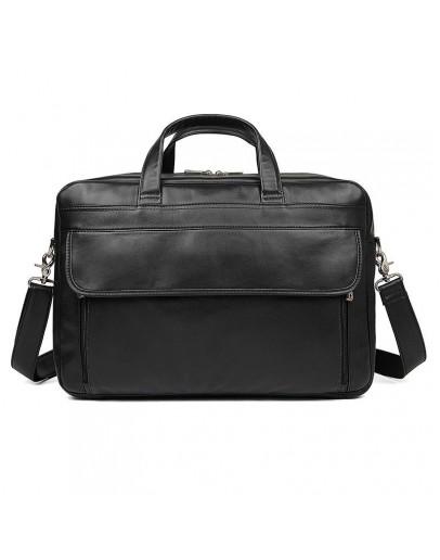 Фотография Большой кожаный мужской портфель 77383A