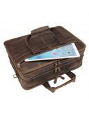 Фотография Кожаный винтажный коричневый мужской портфель 77387R