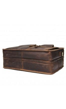 Кожаный винтажный коричневый мужской портфель 77387R