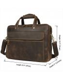 Фотография Кожаный мужской портфель, сумка для ноутбука 77388R