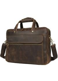 Кожаный мужской портфель, сумка для ноутбука 77388R
