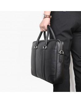 Черная мужская деловая кожаная сумка 77400A