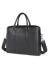 Портфель мужской черный кожаный для документов 77401A