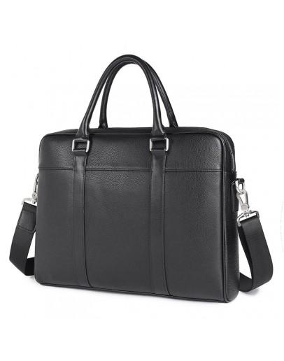 Фотография Портфель мужской черный кожаный для документов 77401A