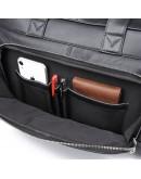 Фотография Черная кожаная сумка для командировок 77408A
