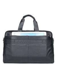 Черная кожаная сумка для командировок 77408A