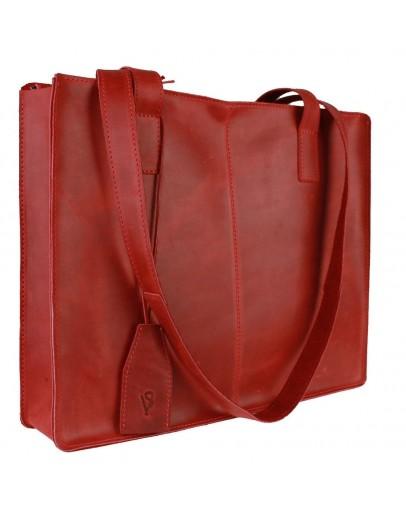 Фотография Красная кожаная женская сумка 77440W-SKE