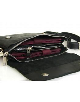 Черная женская кожаная сумка на плечо 77449-SGE