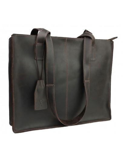 Фотография Коричневая женская кожаная сумка 77540W-SKE