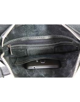 Черная кожаная сумка планшетка 77625-SKE