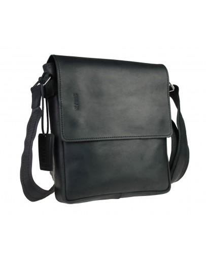 Фотография Черная кожаная мужская сумка через плечо 776740-SKE