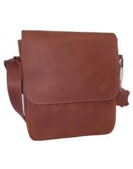 Рыжая плечевая мужская сумка 777203-SGE