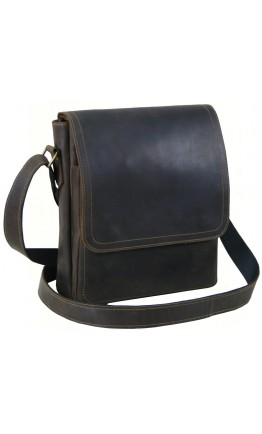 Кожаная мужская коричневая вместительная сумка 778822-SGE