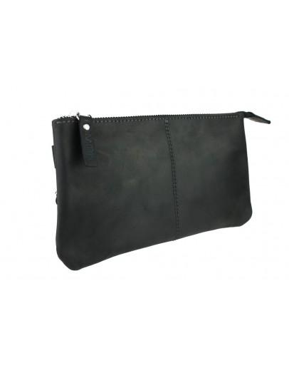 Фотография Черный мужской кожаный клатч 77918-SKE