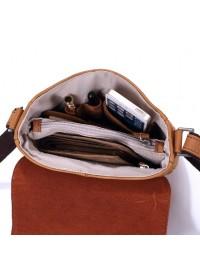 Компактная сумка на плечо из конской кожи 78009
