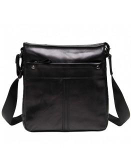 Мужской черный кожаный мессенджер на плечо 78030A