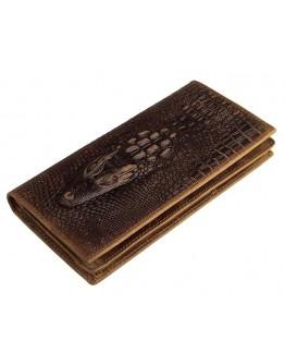 Коричневое мужское портмоне с тиснением 78030RC