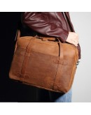 Фотография Добротная удобная сумка мужская из лошадиной кожи 78044