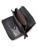 Фотография Мужской клатч, черный кожаный 78048a-1