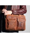 Фотография Оригинальный портфель мужской из конской кожи 78049