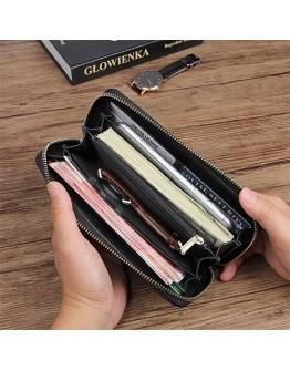 Кожаный черный мужской клатч - кошелек 78067A