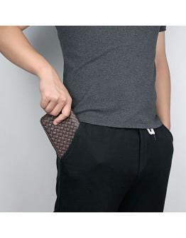 Кожаный коричневый мужской клатч - кошелек 78067C