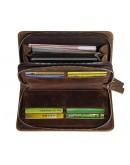 Фотография Кожаный мужской клатч, стиснением коричневый 78070R-1