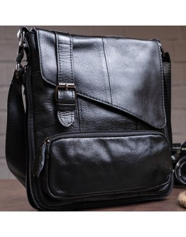 Мессенджер черный кожаный мужской 78239A