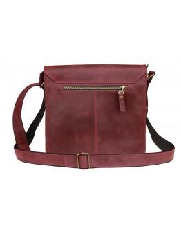 Кожаная удобная бордовая женская сумка 7832W-SKE