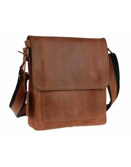 Кожаная светло-коричневая кожаная сумка на плечо 7843211-SKE