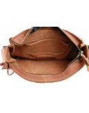 Фотография Кожаная светло-коричневая кожаная сумка на плечо 7843211-SKE