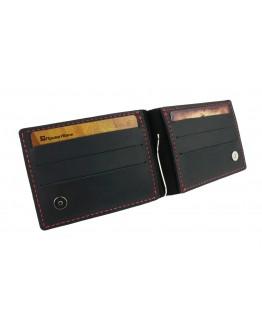 Мужской кожаный зажим для купюр черный 78511P-SKE