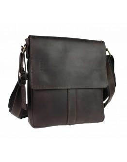 Кожаная коричневая классическая сумка на плечо 78532-SKE